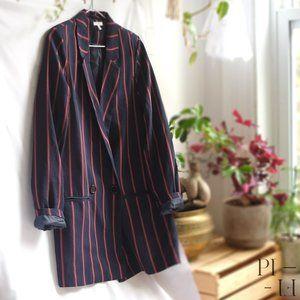 Ardene blazer striped marine blue and red oversize